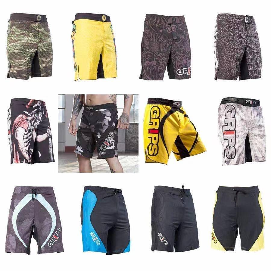 Apertos série de combate shorts calças esportivas fitness mma combate shorts sansang muay thai