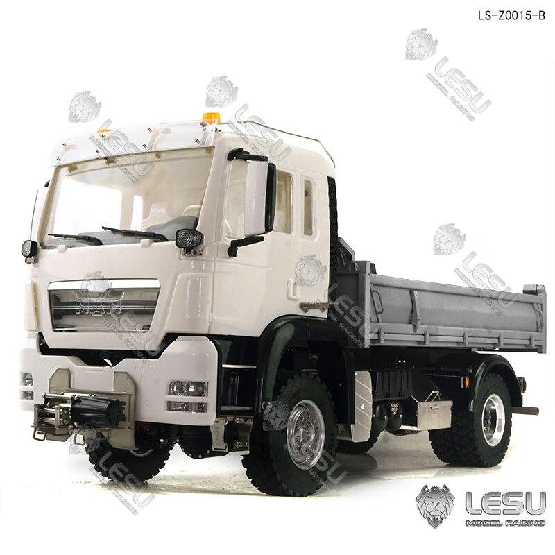 LESU 1/14 MAN Hydraulic 4x4 Dump Truck RC Model Tmy TH16800