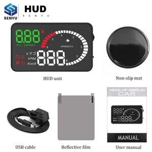 HUD Display Head Up Display X6 Car GPS HUD X6 OBD OBD2 Diagnostic Tool Projector Digital Speedometer Car Speed Security Alarm(China)