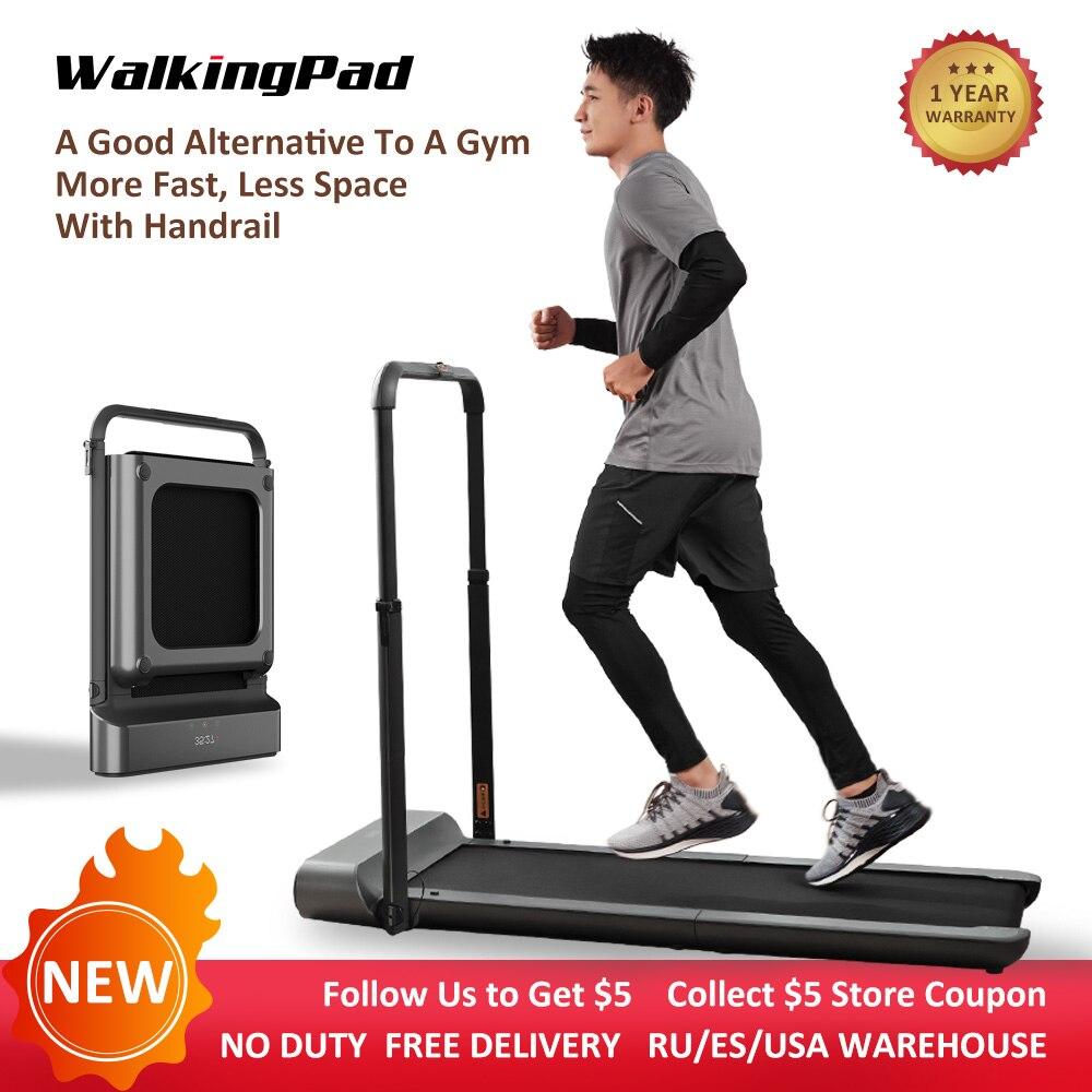 WalkingPad R1 Pro tapis de course pliable stockage vertical 10 Km/H course à pied 2in1 pas de contrôle de l'application de bruit avec main courante entraînement à domicile