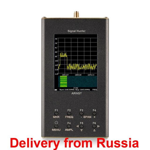 נייד RF ספקטרום analyzer Arinst SSA R2 אות האנטר (35 MHz   6200 MHz) עם מסך מגע