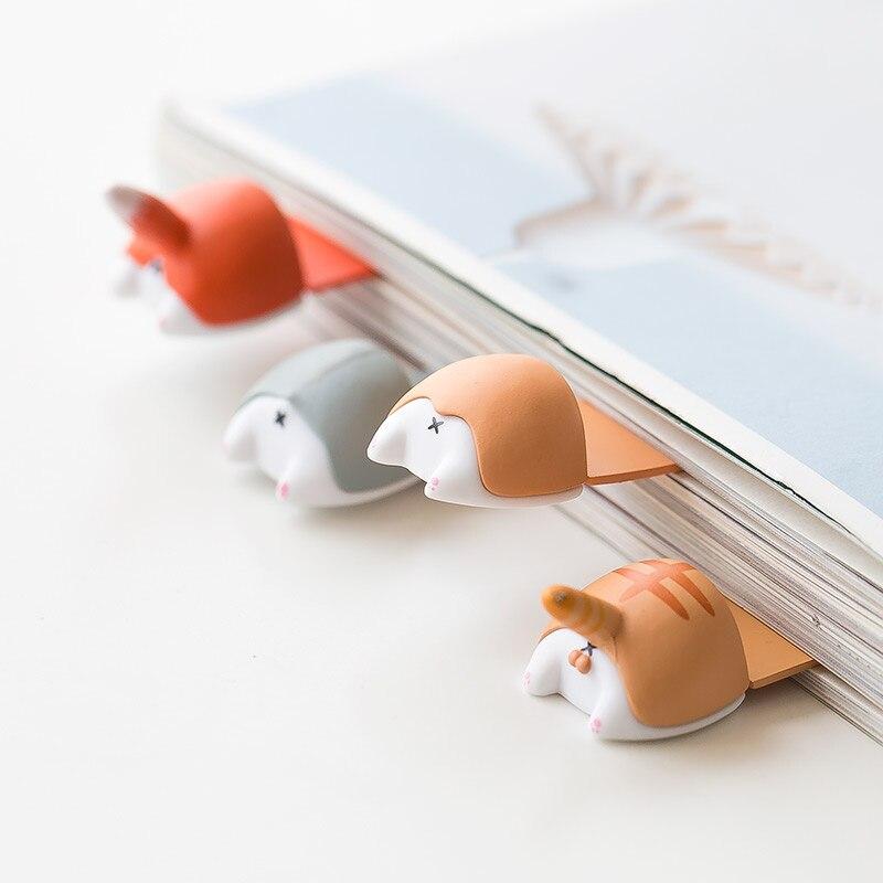 JIANWU 1pc Kawaii Corgi Bookmarks Creative Cute Modeling Dog Butt Bookmark Cartoon Prop Student Stationery School Supplies