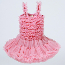 2019 New 3-8 Years Sleeveless Tutu Girl Baptism Dress Kid Dresses Girls Clothes Party Princess  Sling Clothes Birthday Gift цены