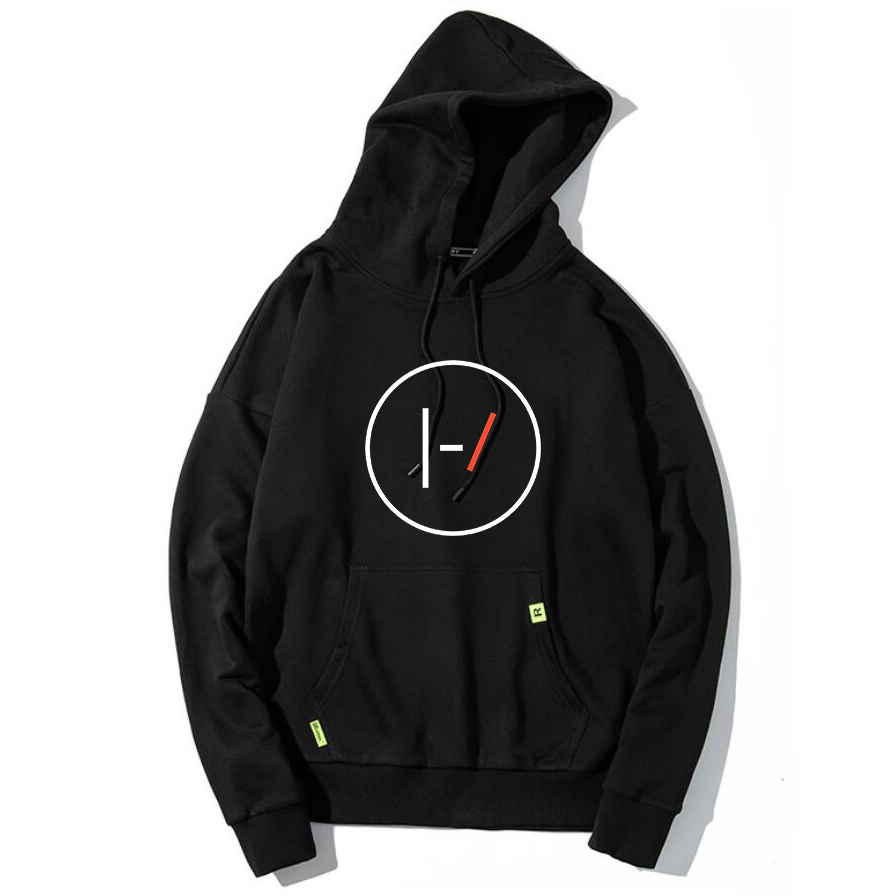 Black Oversize Rock 21 Pilots Hoodies Women Kpop Sweatshirt Hoodie Oversized Graphic Print Autumn Winter Clothes Big Size Hoody