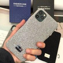 Agneau tout compris couverture arrière étui pour iphone Xs Max XR 11Pro max 7 8 Plus bouton en métal en cuir De Luxe cas CKHB BD2