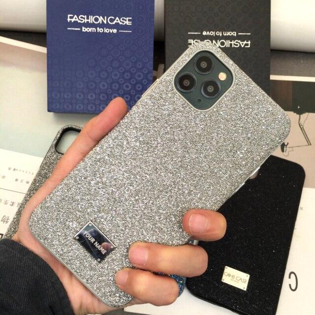 양가죽 모든 항목을 포함하는 iphone xs 용 뒷면 커버 케이스 max xr 11pro max 7 8 plus 금속 단추 고급 가죽 케이스 CKHB BD2