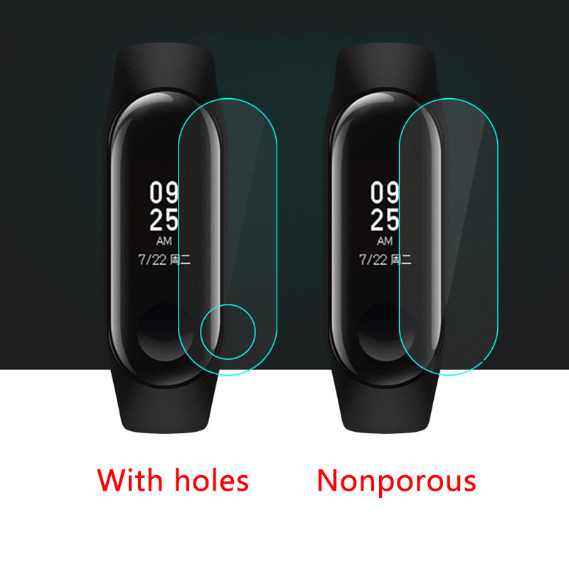 5PCS M3 Film   Screen  Belt  Mi Band 3  Tempered  Screen  Glass Hole  Protector For Xiaomi