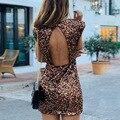 Женское блестящее мини-платье, модный клубный сарафан с блестками и открытой спиной, вечерние облегающие платья для фитнеса, весна-лето
