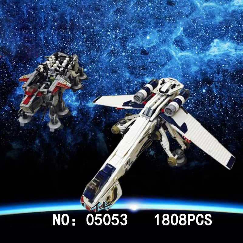 05053 Star Series Wars Plan The 10195 Republic Dropship Set Building Blocks Bricks Assembly Toys Kids Gifts