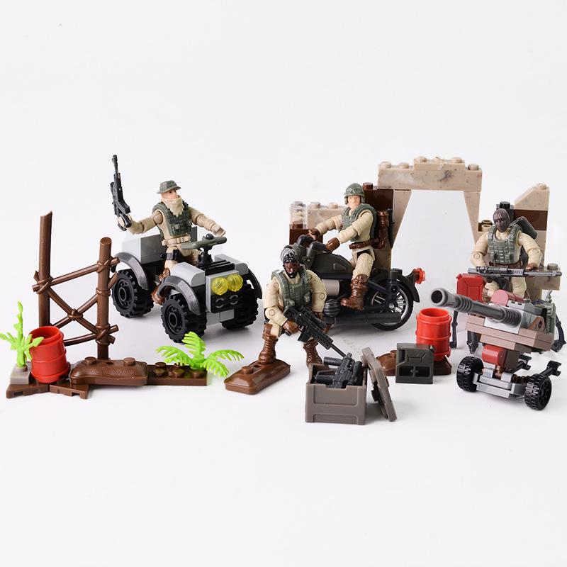 new call of military duty mini SWAT soliders figures Army weapons guns sets model building blocks Model Dolls bricks kit 9907 image