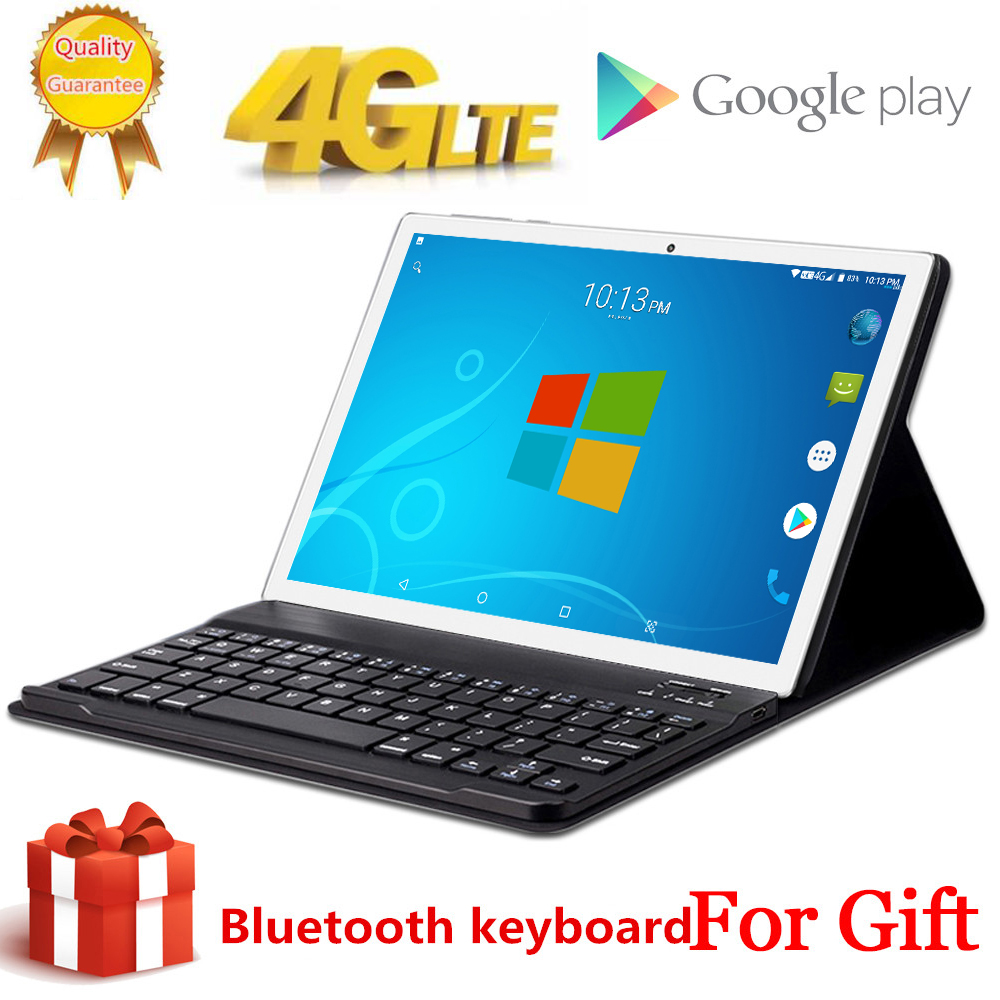 Free Gift Bluetooth Keyboard 4G LTE 10.1 Inch 2.5D Glass Tablet Pc 10 Deca Core MTK6797 8GB RAM 256GB ROM 2560*1600 Android 8.0