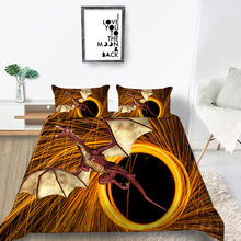 King Size Bedding Set Dragon Mysterious Fashionabl