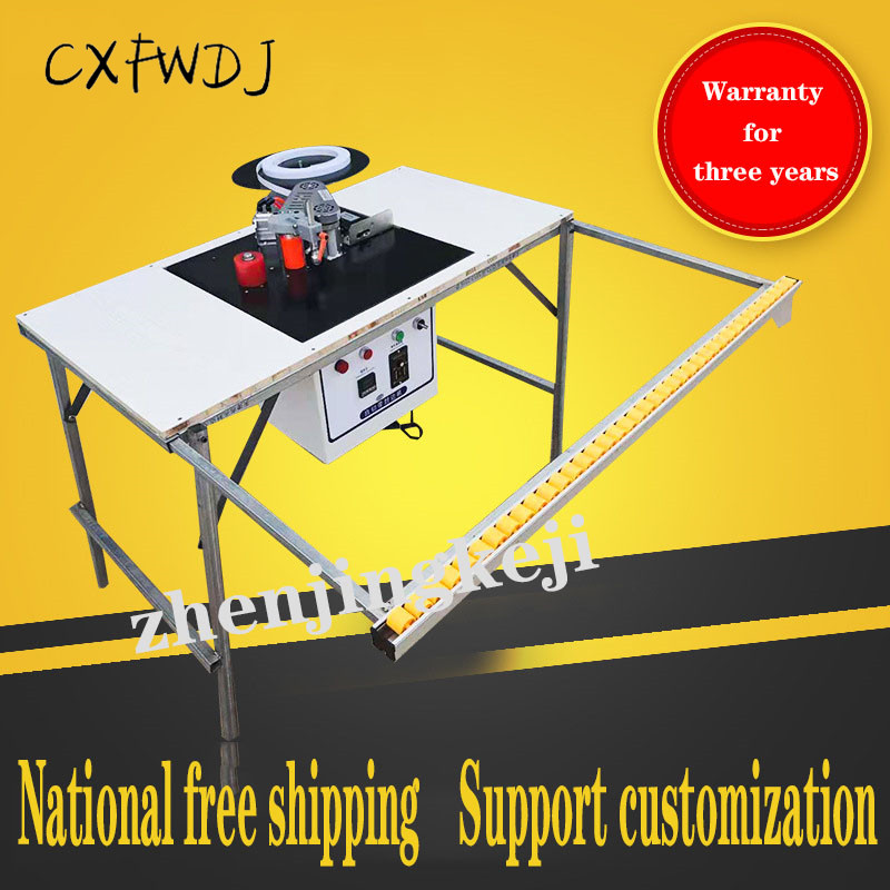 Machine de cachetage de bord machines à bois entièrement automatique Machine de baguage Table pliante Machine de cachetage de bord Simple menuiserie