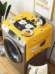 Towel Washing-Machine-Cover Fridge-Dust-Cover Refrigerator Geometric Thick Cotton Cloth