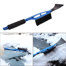 2 In 1 Ice Scraper with Brush for Car Windshield Snow Remove Frost Broom Cleaner Snow Removal Broom Cleaner