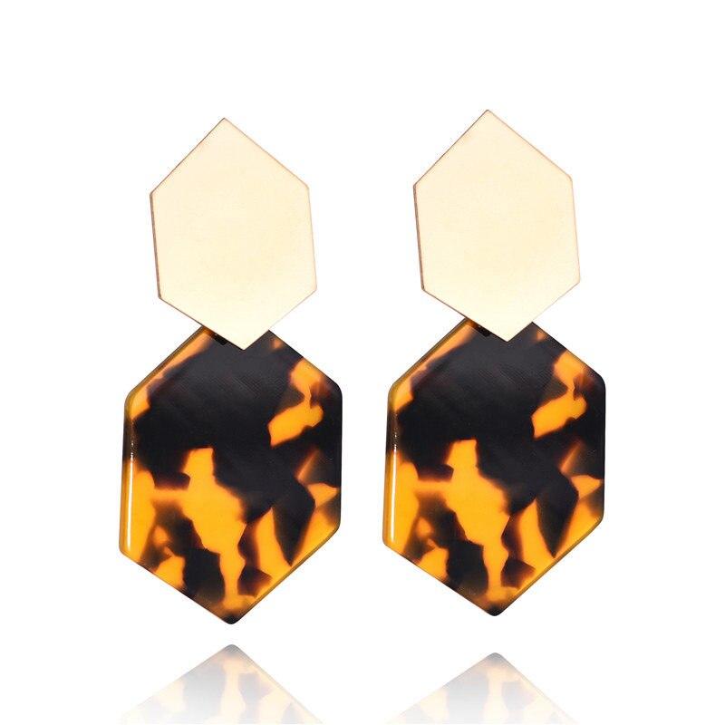Fashion Earrings For Women Gold Metal Single Drop Dangle Earrings Vintage Statement Round Geometric Earring 19 Fashion Jewelry 3