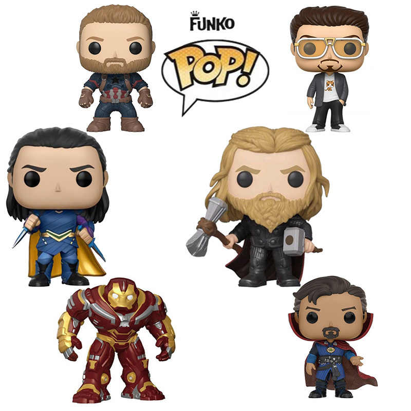 Funko Pop Marvel The Avengers Iron Man Capitan America Dio Del Tuono Thor Spider-Man Figure da Collezione Model Toy per I Bambini