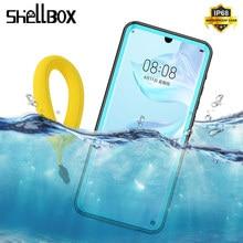 SHELLBOX IP68 עמיד למים מקרה עבור HUAWEI P30 Mate20 פרו Snowproof Dustproof מקרה הגנה מלאה עבור Huawei P20 לייט Nova3e מקרה