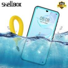 Shellbox ip68 à prova dip68 água caso para huawei p30 mate20 pro snowproof dustproof caso proteção completa para huawei p20 lite nova3e
