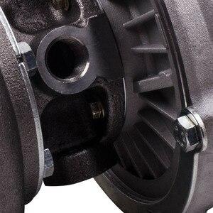 Image 5 - شاحن تربو GT30 GT3037 GT3076R T3.82 A/R 51 مطلي بأجزاء مصقولة GT30 500 + HP T3 شفة شاحن خارجي مبرد للمياه