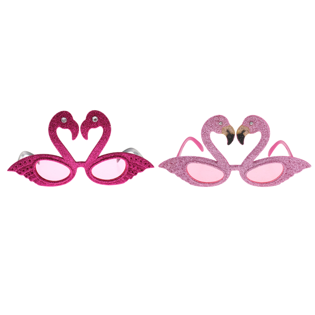 4//pack Glitter Pink Flamingo Shaped Sunglasses Girls Hen Party Glasses Props