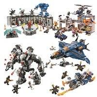 Новый Marvel Avengers4 07120 07122 Мстители 4 эндшпиль конечная Квин комплект совместим с Legoinglys 76126 76131 Кирпичи Игрушки