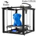 Ender-5 Plus 3D impresora de alta precisión tamaño grande 350*350*400 impresora 3D nivelación automática, doble eje Z apagado resumen Creality 3D