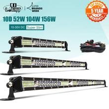 Co-light – barre lumineuse de travail 10D 10 20 30 pouces 52W 104W 156W, Combo 4x4, pour tracteur, bateau, 4x4, camion, ATV