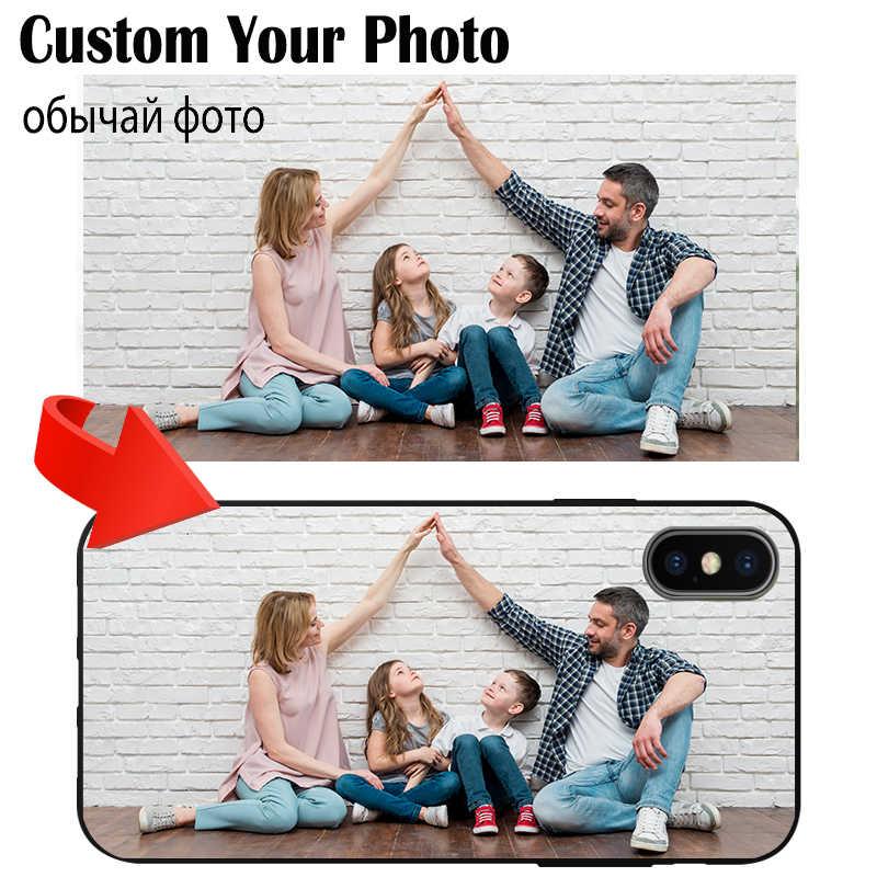 Telepon Kustom Case DIY Pribadi TPU Lembut Hitam Hadir untuk Huawei Honor 9 10 20 20S 6A 6X 7A 7C 8A 8S V9 Bermain Lite Pro