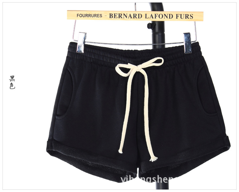 Booty Woman Shorts Summer Black Plus Size Short Femme Sport Lace Up Elastic High Waist Loose Wide Legs Casual Home Comfy Shorts 17
