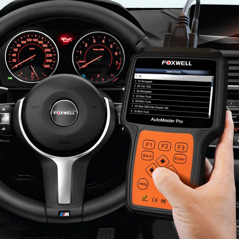 FOXWELL NT650 skaner samochodowy OBD2 ABS Airbag SAS DPF EPB czytnik kodów resetowania oleju profesjonalne narzędzie diagnostyczne do samochodów skaner OBD2