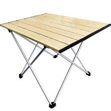 Tables latérales de Camping portables, avec plateau en aluminium, pliables à montage rigide, dans un sac, pour pique nique, Camp, plage, randonnée