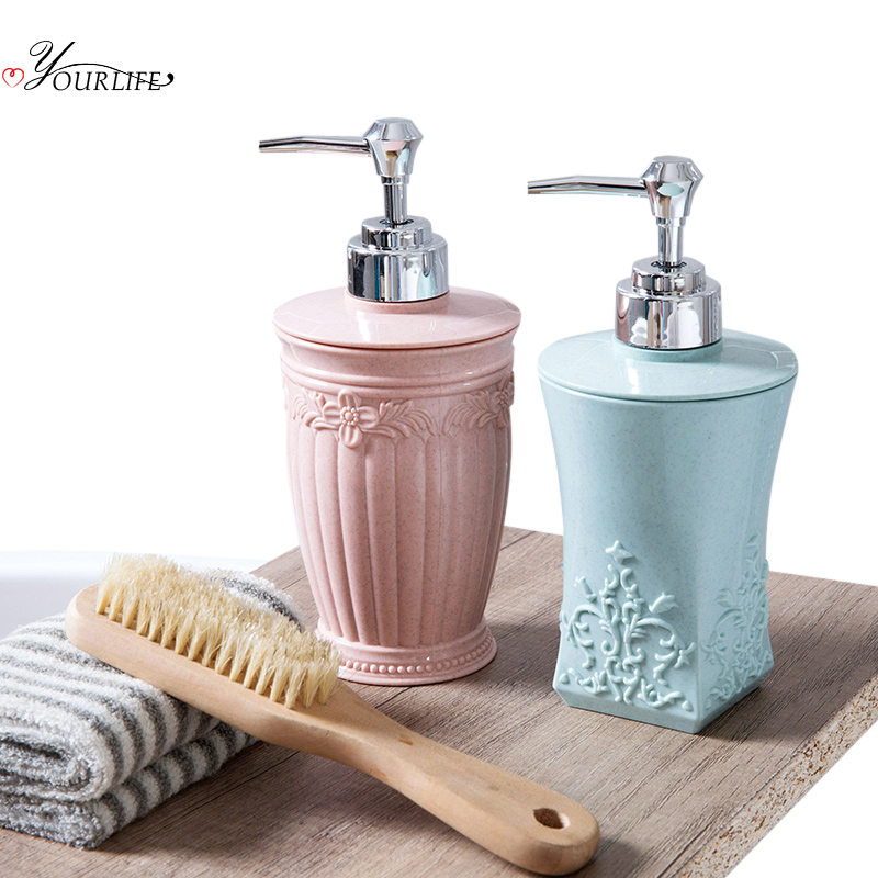 OYOURLIFE 400ml European Style Soap Dispenser Pump Soap Bottles Bathroom Hand Sanitizer Shampoo Shower Gel Liquid Dispenser