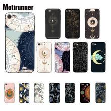 Motirunner Universe Sun Moon Stars Art Silicone Phone Cover For IPhone 8 7 6 6S 6Plus X XS MAX 5 5S SE XR 10 Cover 11 Pro Max motirunner and white moon creative silicone phone case cover for iphone 8 7 6 6s 6plus x xs max 5 5s se xr 10 11 pro max