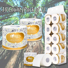 Xin Xiang Yin 10 Rolls 3 Layers Roll Toilet Paper Bathroom Paper Tissue Rolling Paper Superior Grade Soft Thick Native Wood Pulp