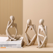 Nordic Creative Home Decoration Living Room Office Sandstone Figure Abstract Character Decoration Wedding Home Ornaments недорого