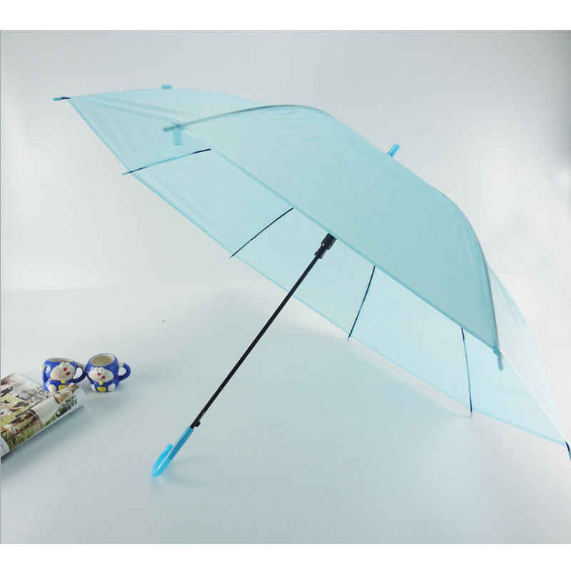Semi-Automatic Transparent Umbrellas For Protect Against Wind And Rain Long-Handle Umbrella Clear Field Of Vision
