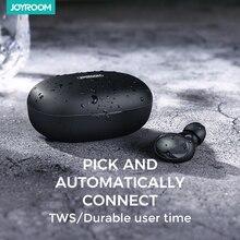 Joyroom TWS kulaklık Bluetooth 5.0 kablosuz kulaklık spor 3D Stereo ses kulaklık Mic ile kulak ve şarj kutusu