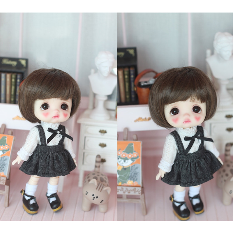 Obitsu11 OB11doll Suit Long Shirt + Dress Doll Clothes Available For OB11 Cu-poche Doll Accessories Doll Shirt + Cowboy Skirt