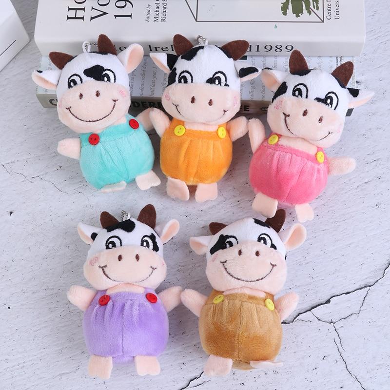 1 Pc New 10cm Little Cow Stuffed Animal Plush Toys , Key chain Plush Dolls , Kid's Plush Toys Chinese New Year-3