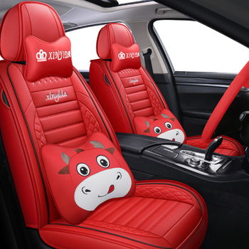 black red leather car seat covers For peugeot 301 307 sw 508 sw 308 206 4007 2008 5008 2010 3008 2012 107 206 accessories image