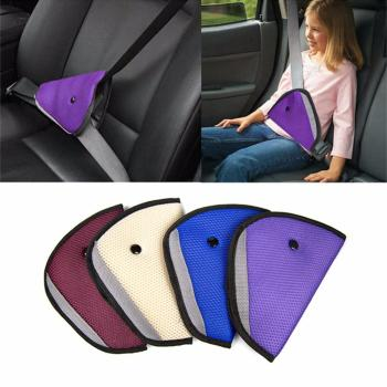 Car Safe Fit Seat Belt Sturdy Adjuster Car Safety Belt Adjust Device Triangle Baby Child Protection Baby Safety For Baby image