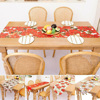 185*35cm Table Cloth Runner Christmas New Year Party Decorations Printed Tablecloth Xmas Plaid Printed Dinner Table Cover 2022