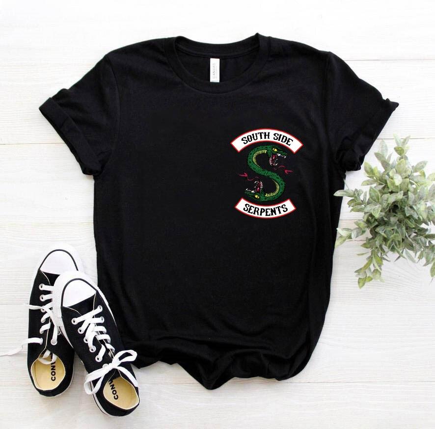 Friends Riverdale Harajuku T Shirt Women Southside Serpent Ullzang Cartoon T-shirt 90s Graphic Tshirt Fashion Top Tee Female 1