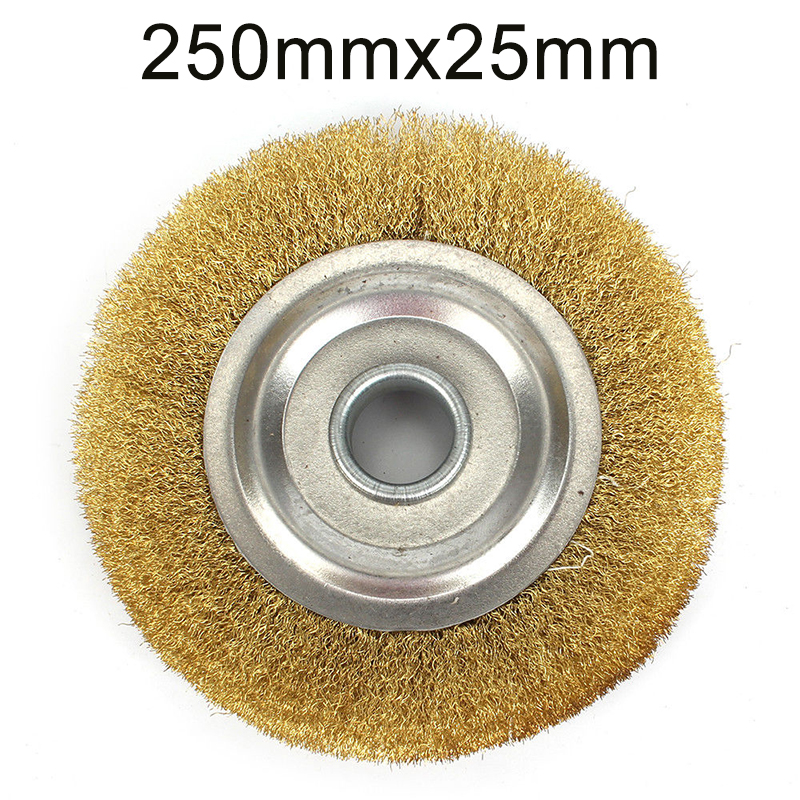 1pcs Copper Wire Wheel Crimped Flat Brass Brush Derusting Polishing Tool Parts