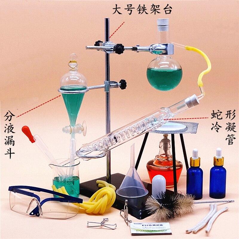 150ml Small Size Glass Essential Oil Steam Distilling set Lab Apparatus Hydrosol Distillation Chemistry teaching equipment