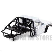 RC araba arka yarım kafes kabini vücut için 1/10 RC paletli eksenel SCX10 90046 Traxxas TRX4 Redcat GEN 8 izci II