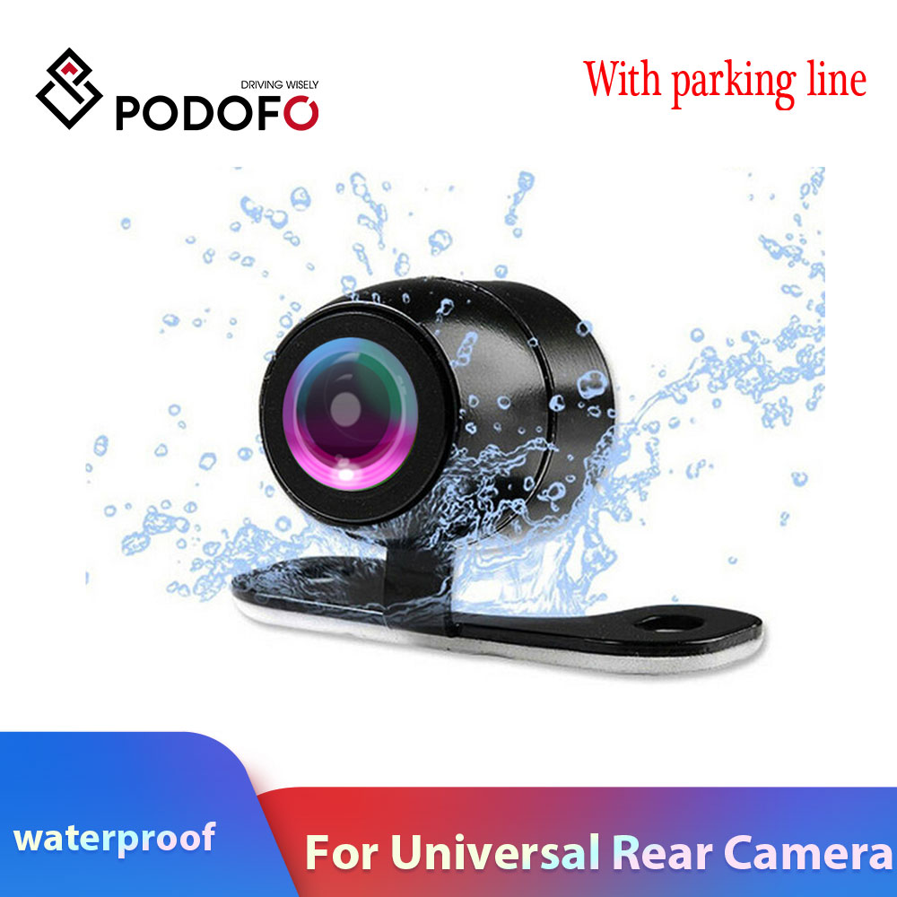 Podofo Car Rear View Camera Waterproof Car Rearview Camera Car Park Monitor Wide Degree Mini Car Parking Reverse Backup Camera