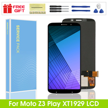 For Motorola Moto Z3 Play XT1929 LCD Display Touch Screen Digitizer Assembly For moto z3 play lcd display screen Free shipping for alcatel one touch go play ot7048 lcd screen display touch screen digitizer assembly free shipping
