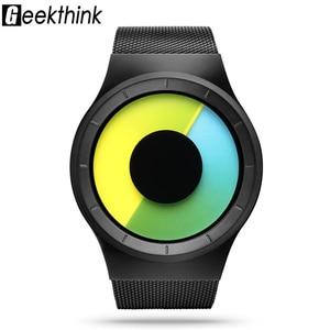 Image 3 - Relogios Masculino Creative Quartz Horloges Mannen Fashion Brand Fashion Rvs Unisex Horloge Klok Man Vrouwelijke Designer